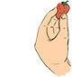 hand with strawverry